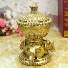 Home decor storage bottles resin elephant boxes for jewelry boxes