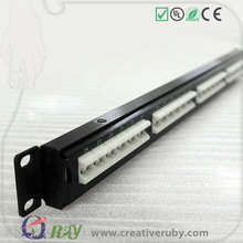 Quality Guarantee Rack Mount AMP 24 Port Patch Panel