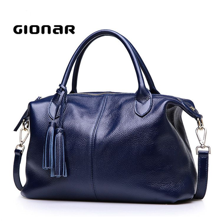 2017 Ladies Fashion Genuine Leather Portable China Stock Gionar Handbag Manufacturers