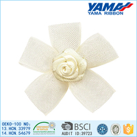 Light weight durable organza ribbon flower hair accessories material