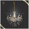 Wholesale European Crystal Chandelier Pendant Lights Candle Holders Lobby or Hotel Decor Lamp, Wrought Iron Candle Chandelier