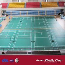 Factory OEM rubber badminton sports floor mat/not pvc badminton court flooring