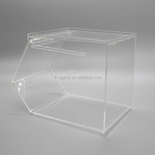High Quality Acrylic box with lid store for Snack ,Candy , food bin cereal dispenser wholesale