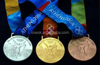 Pure 100% Zinc alloy medals/ Custom medallions/ Custom metal medals with ribbon