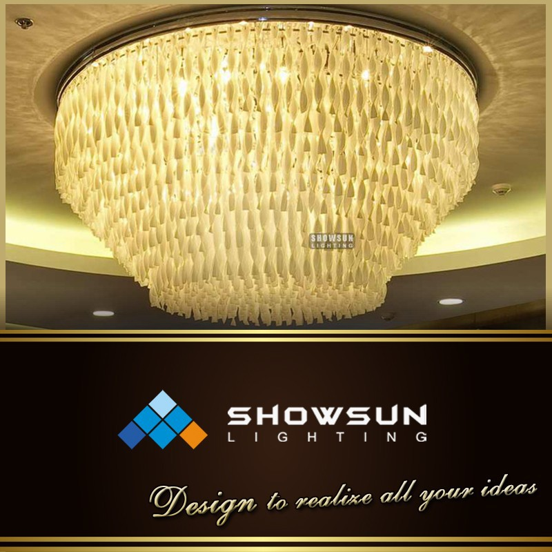 Showsun custom-made white spiral acrylic pendants ceiling lamp
