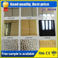 gold and silver china 3xxx 1xxx blue film cladding mirror aluminum plate