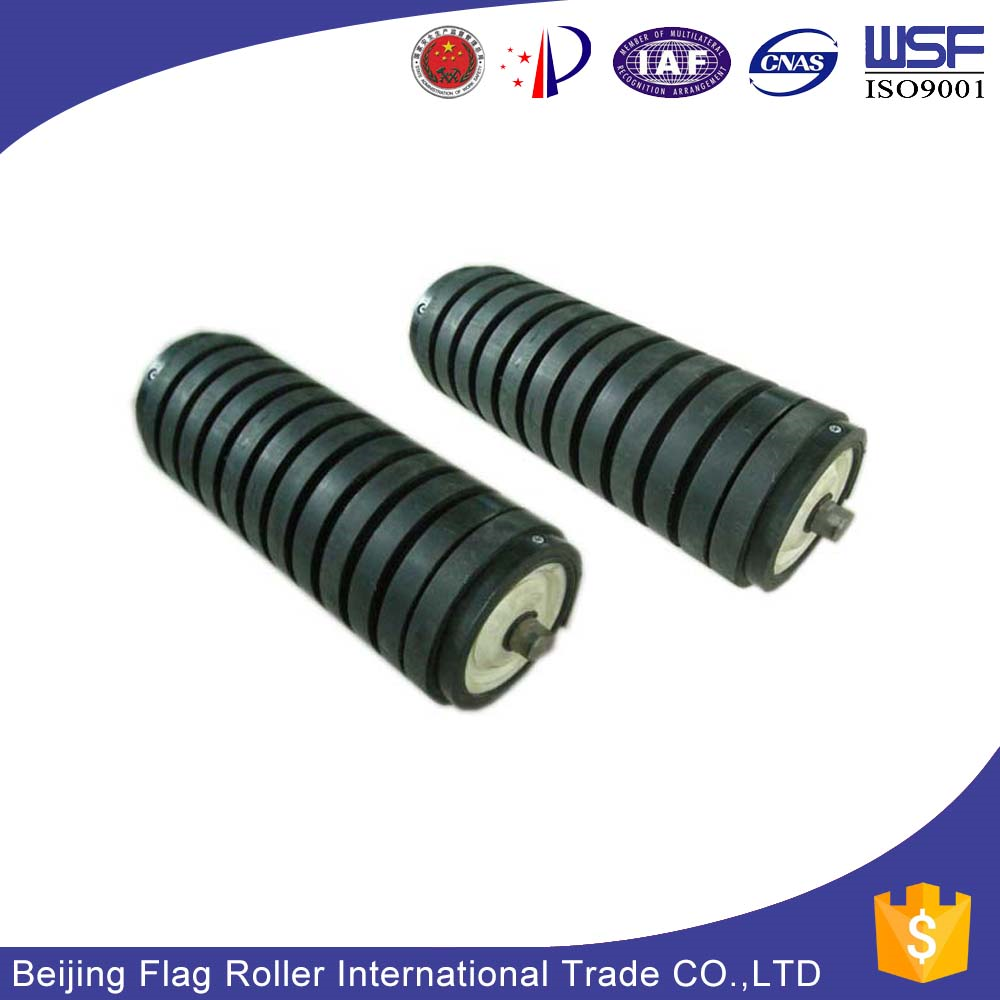 China factory custom impact conveyor roller with rubber ring