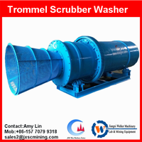 new designed 70T/H chrome washing trommel scrubber , chrome ore separation machine