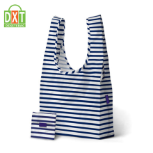 Logo printed elegant custom printed shopping nylon foldable tote bag