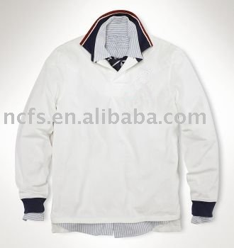 HOT ! sell 2012 New Fashion Man's long sleeve Polo T-Shirt
