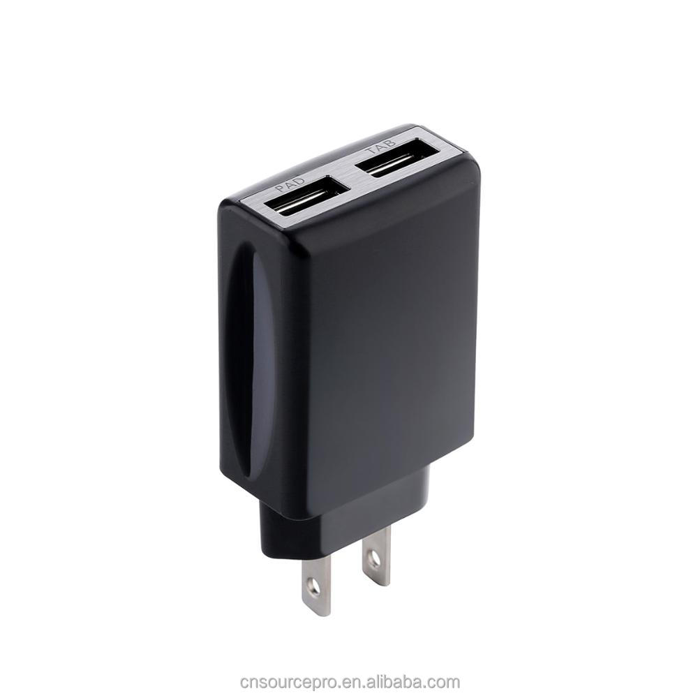 10W 2A Wall charger with dual USB single usb wall charger