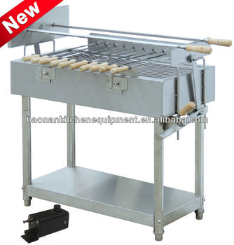 Stainless steel rotating charcoal bbq grill EB-W04