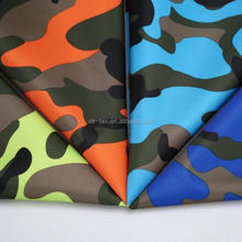 Durable fashion camouflage bag used 230T twill pvc coating polyester fabric