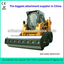 skid loader attachment vibratory roller