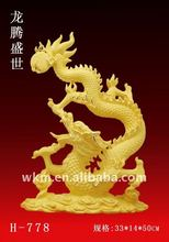 Golden Dragon 24K gold plated new year gift