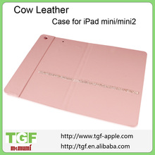 New arrival Ultra thin Stand leather case for Ipad Mini flip cover with diamante