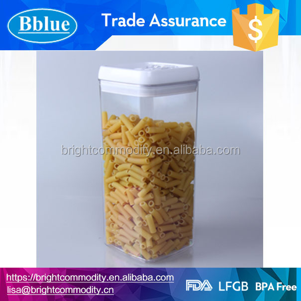 3.1L plastic food container canister plastic canister