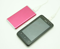 4000mAh metal ultra thin Universal external portable power pack with LED light Backup battery charger For cell phone iphone