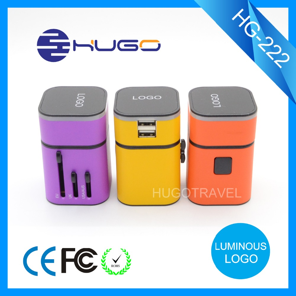 Top selling world mains Universal travel adapter with 2 usb
