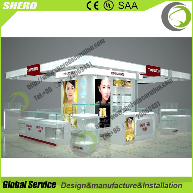 Beautiful Exhibit counter channel display cosmetic