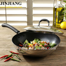 Copper bottom silicon grip Stainless Steel non stick Frying Pan