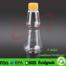 250ml milk clear pet bottles with lid blow plastic bottle factory