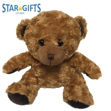 Custom Size Logo Kids Happy Plush Stuffed Toys Teddy Bear