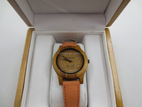 High quality and fast delivery time 100% natural wood watch with CUSTOM LOGO