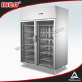 Commercial Stainless Steel 2 Glass Door Vertical Bottle Display Coolers/Commercial Drink Cooler/Soft Drink Cooler