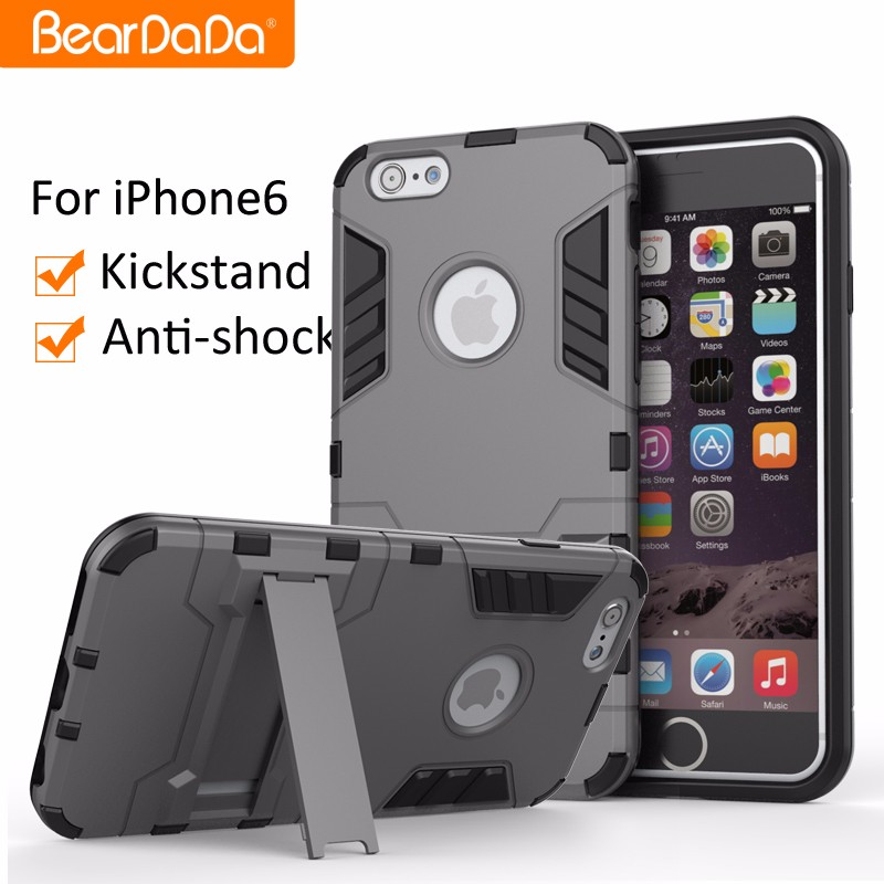 Wholesale mobile phone case for iphone 6, kickstand phone cases for iphone6