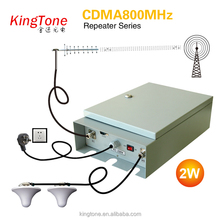 2016 Kingtone 2G 3G mini CDMA transmitter CDMA800MHz mobile signal repeater 33dBm cellular signal repeater rf powerful repeater