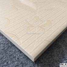 Full of warm sense and good selling product in glossy surface style selection ceramic wall tile with beauty color flower pattern