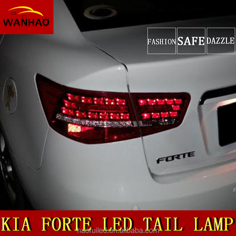 Factory direct Auto Modified Forte LED Tail lights with CCC certification Running+Brake+Reverse+Turning Light