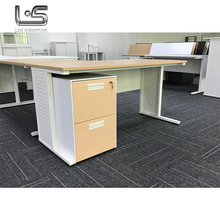 Full extension make to order 2 person metal frame office desk