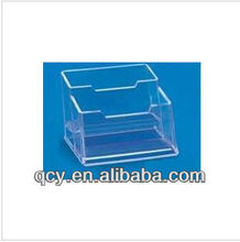 2013 exquisite 2 cases clear acrylic business name card holder QCY-MPH16