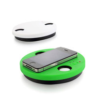 Best selling mini magic portable wireless round shape mutual induction speaker
