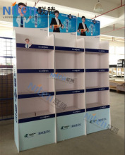 With CMYK color foam board/ hard pvc material floor toothpaste display stand