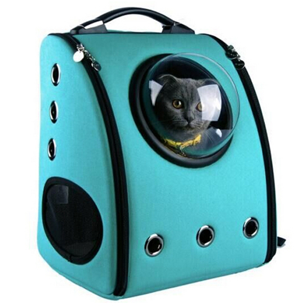 Leather Pet Carrier Backpack & Dog Cat Carrier Bag