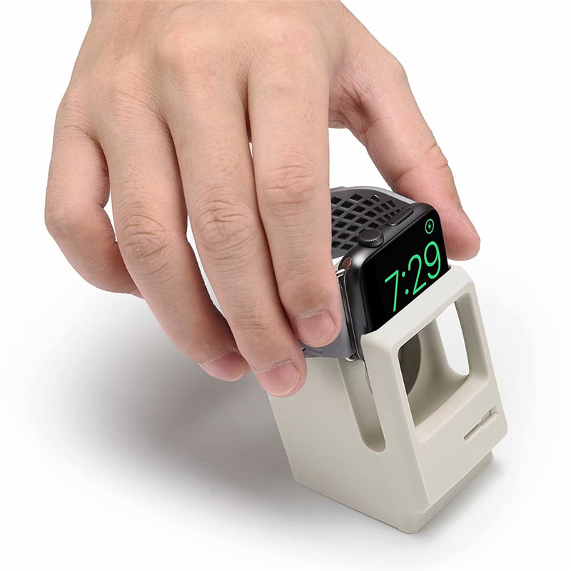 for apple watch stand, for iwatch 4 3 2 silicone charging holder retro computer style