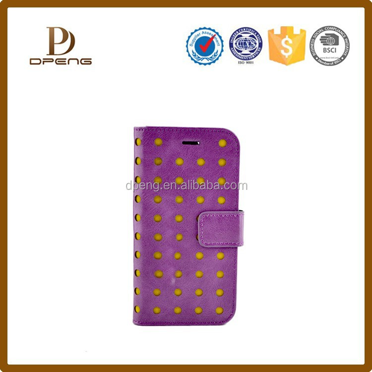 New arrival Polka dots leather phone case for lenovo a390