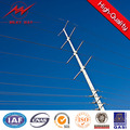 12m distribution power poles steel galvanized tower monopole