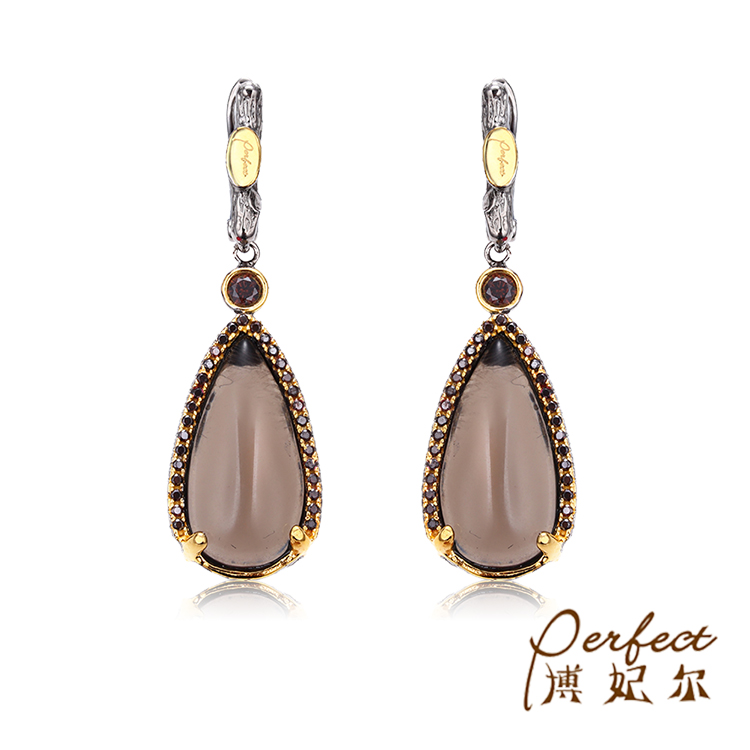 Saudi Citrine Stone 925 Sterling Silver Jewelry Dangle Earrings for Girl Party