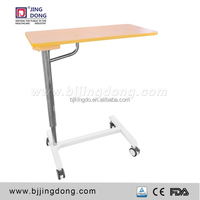 Medical Hospital Furniture, Mobile Dining Table Over for Patient Bed