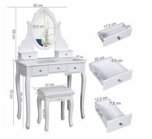 Branded furniture dressing table designs Wooden modern simple makeup dressing table with chair