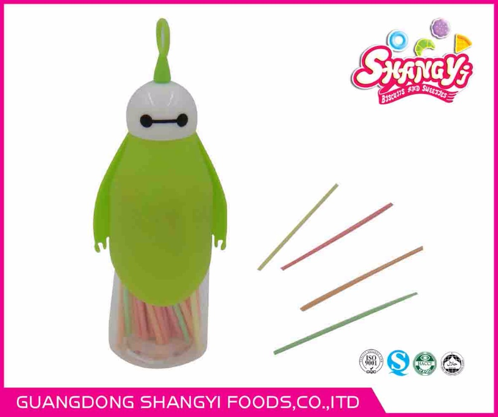 180g CC stick candy for baymax shape bottle