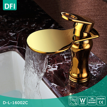Brass Bathroom Basin Modern Faucets Mixers Taps Cascade Faucet