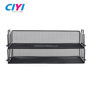 Factory offer high quality metal mesh office desk file tray