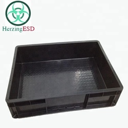 HJ-1826412 Wholesales size 600*400*120 antistatic plastic container