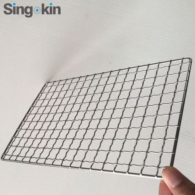 Barbecue grill wire mesh netting crimped wire mesh for food