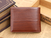 luxury small size wallet for boys, compact pu leather wallet for men